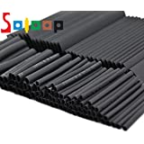 SOLOOP 381Pcs Black Heat Shrink Tube Assortment Wire Wrap Electrical Cable Tubing Sleeving