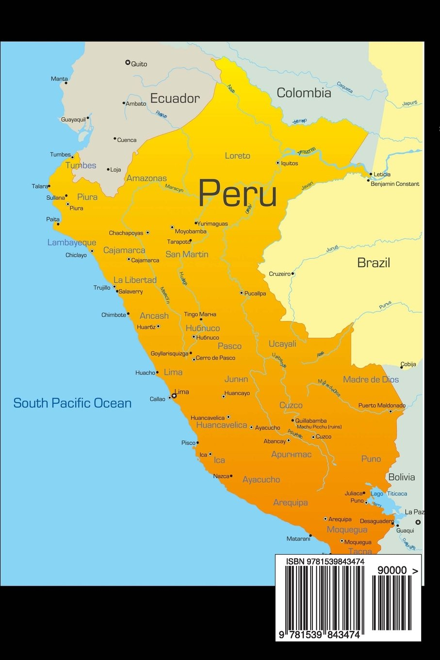 Map of Peru Journal 150 page lined notebookdiary Cool Image