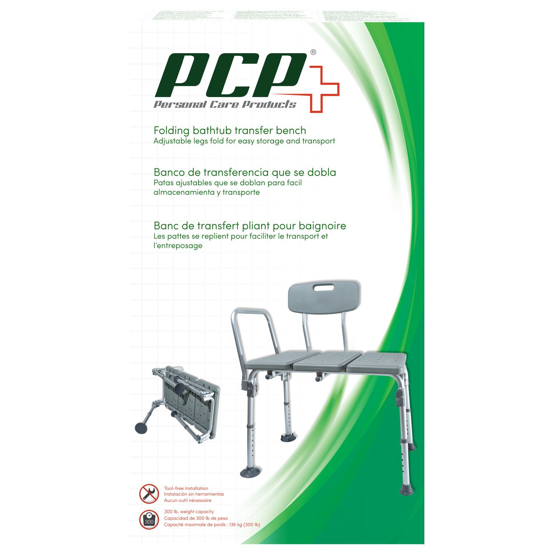 Amazon.com: Pcp Lightweight Folding Transfer Bath Bench, Silver ...
