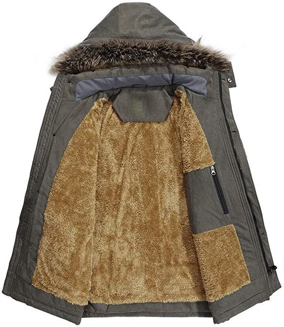 Men's Warmth Rompers Veste d'hiver Parka À Veste Casua Moderne Capuche Kapuzenparka Veste Manteau Manteau d'hiver Mens Manteau d'hiver Kaki