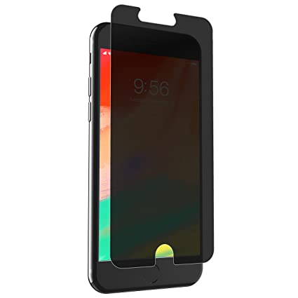 purchase cheap 1d4d6 40d09 ZAGG InvisibleShield Glass+ Privacy Screen Protector for Apple iPhone 8  Plus, iPhone 7 Plus, iPhone 6s Plus, iPhone 6 Plus – 3X Impact Protection