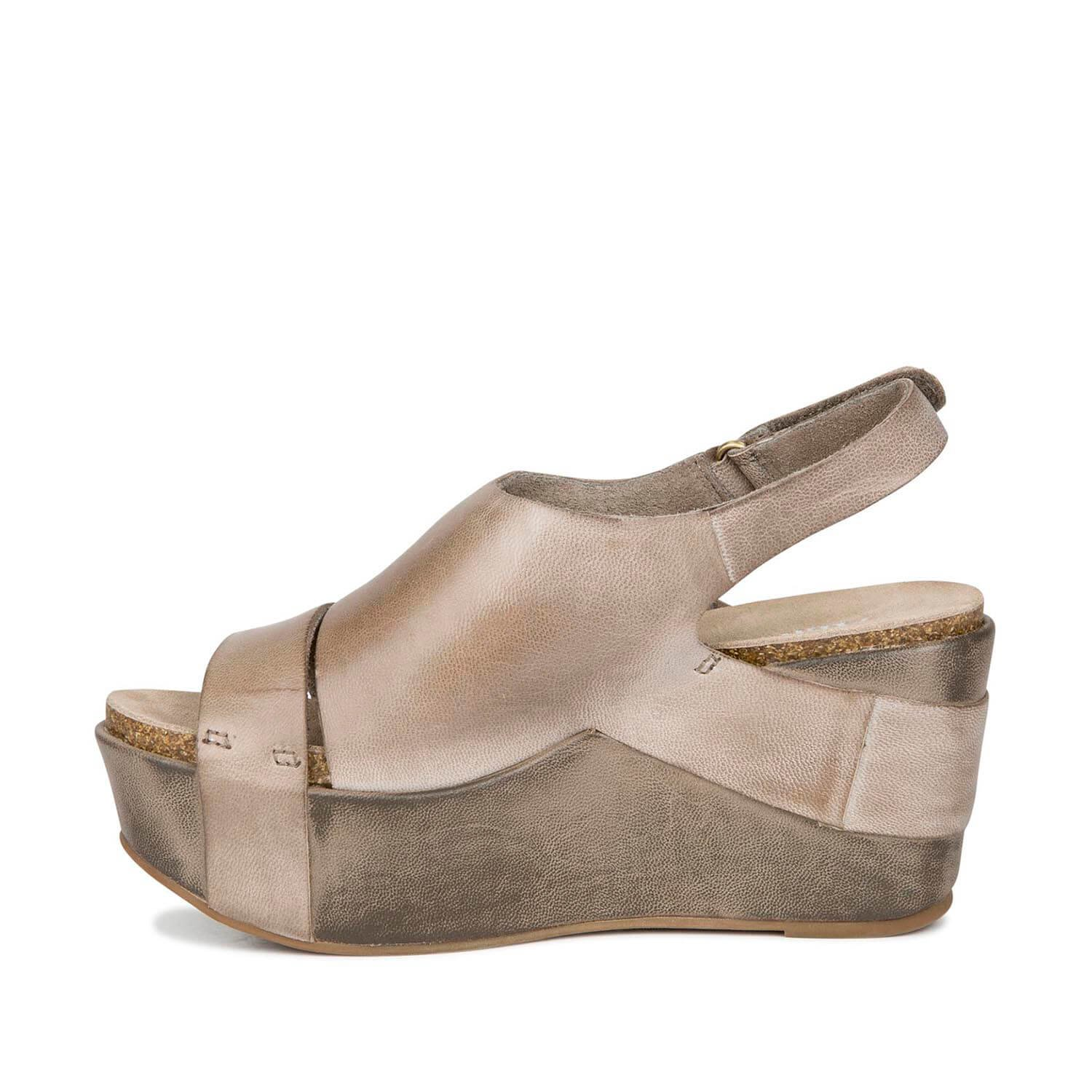 Antelope Women's 861 Leather Wrap & Cut Sandals B00TO9H33K 6-6.5 B(M) US|Grey