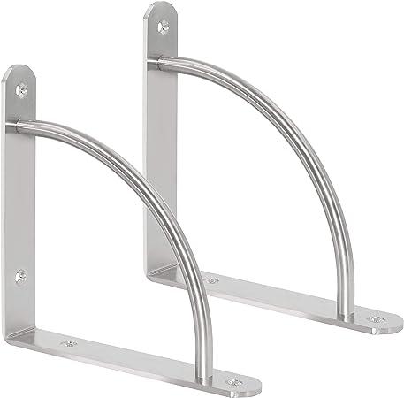 8x 4//6 Holes Stainless Steel L Shape Corner Brace Joint Right Angle Bracket