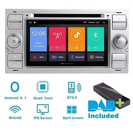 Android 8.1 estéreo de Coche Dab+ (Incluido) para Ford Fiesta 2005 Kuga 2008-