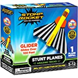 Stomp Rocket The Original Stunt Planes Refill Pack - 1 Foam Glider Plane - Outdoor STEM Gifts for Boys and Girls - Ages…