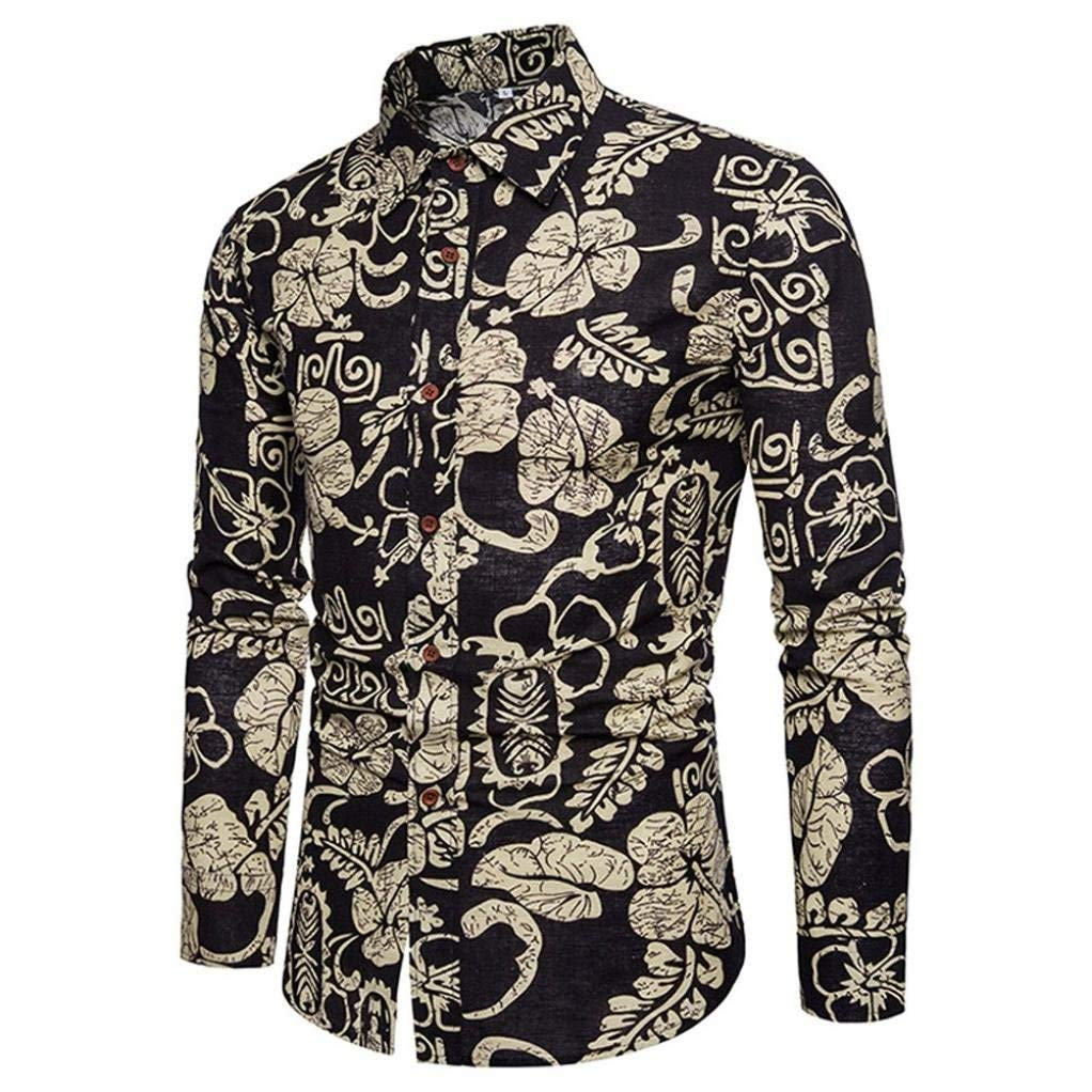 de27f15c8d2 Men Casual Mens Casual Long Sleeve Shirt Business Slim Fit Shirt ...