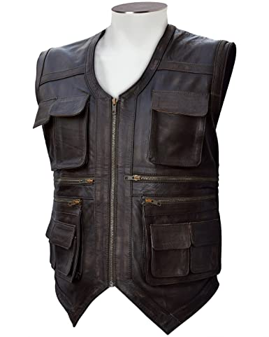 World Famous Jurassic Style Brown Leather Vest