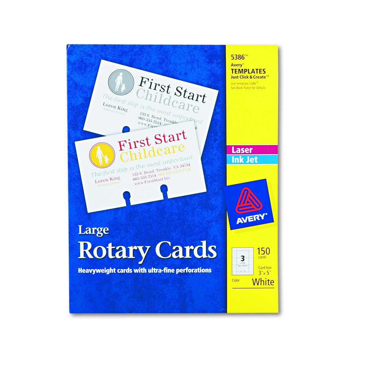 Amazon.com : Avery Rotary Cards, Laser and Ink Jet Printers, 3 x 5 ...