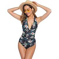 Abollria Costume Intero Donna con Push-up Costume da Bagno a Un Pezzo Costume per Estate, per Mare, Piscina, Spiaggia, Vacanza, Party