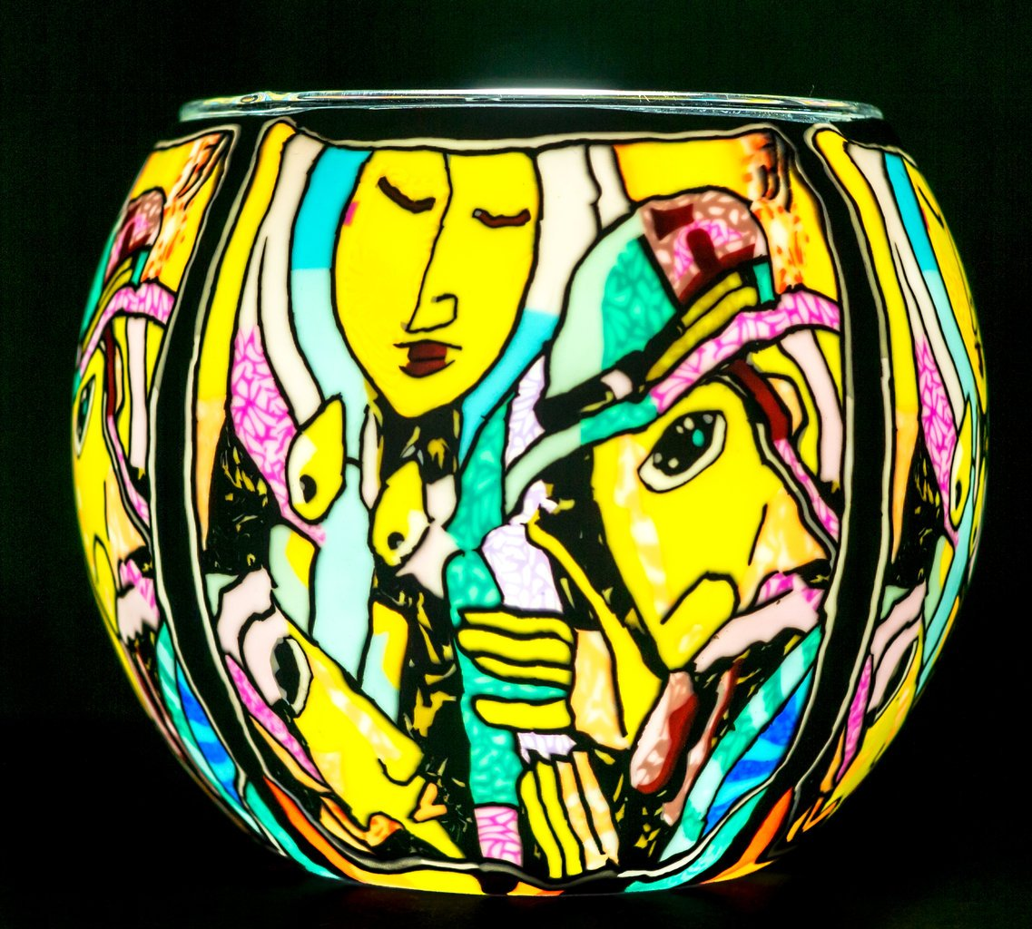 Benaya Glass Nightlight Tealight Holder - Candle Lighting Milford Collection