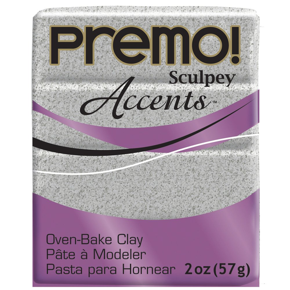 Sculpey PE02 5065 Oven Bake Clay premo! Accents-Gray Granite Polyform Products