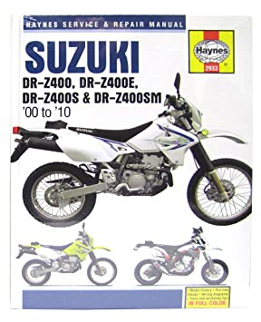 haynes manual suzuki drz400 00 05 drz400e 00 09 drz400s sm 00 10 rh amazon co uk DRZ400S Performance Upgrades DRZ 400 Years and Colors