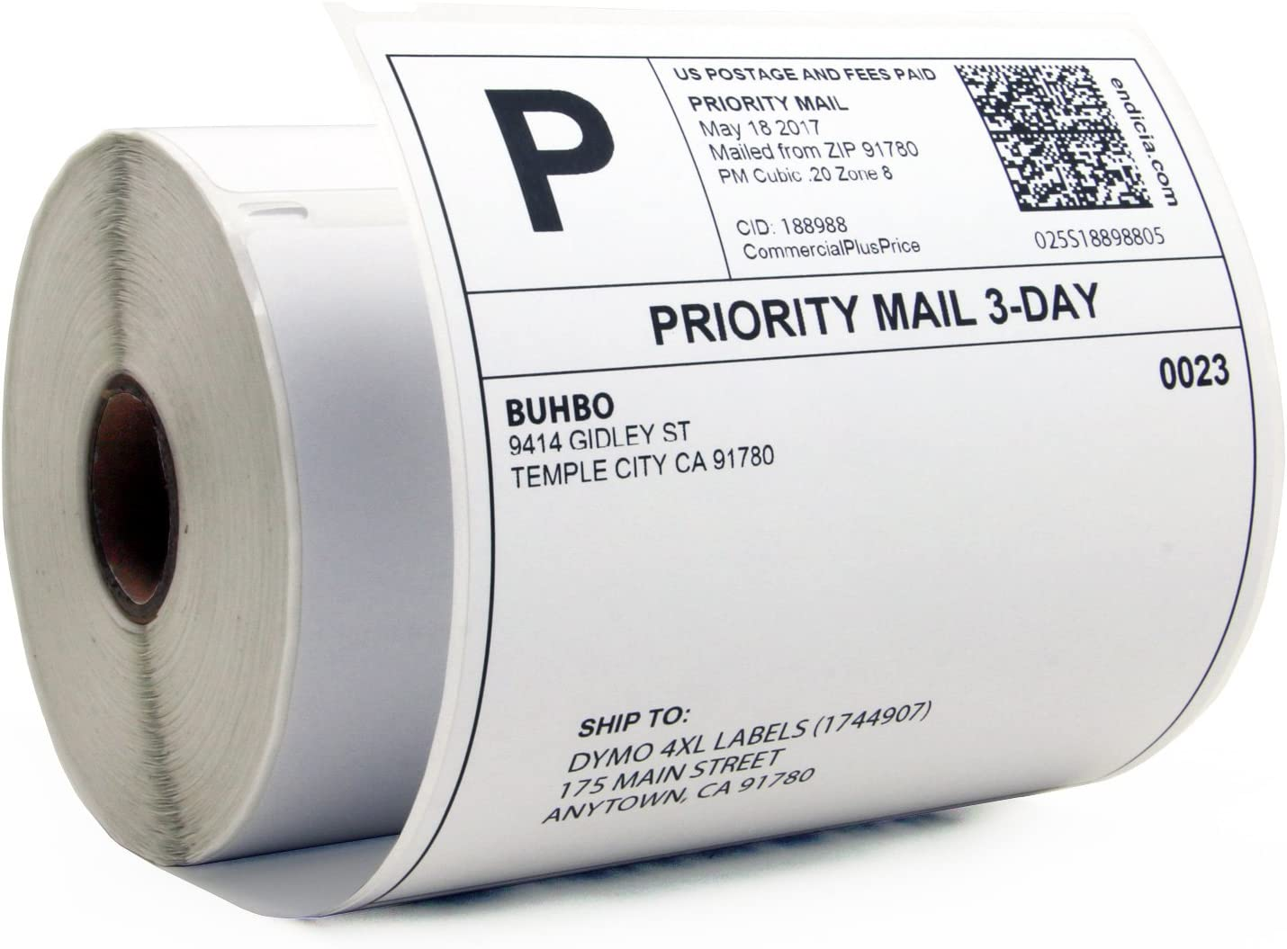 DYMO 4XL /& Zebra Desktop Printers Compatible with Rollo Compatible DYMO 1744907 Removable /& Perforated 4 x 6 1 Rolls//220 Labels Shipping Labels BETCKEY
