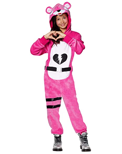 Fortnite Halloween Costumes 2019.Girls Fortnite Cuddle Team Leader Plush Costume Officially Licensed