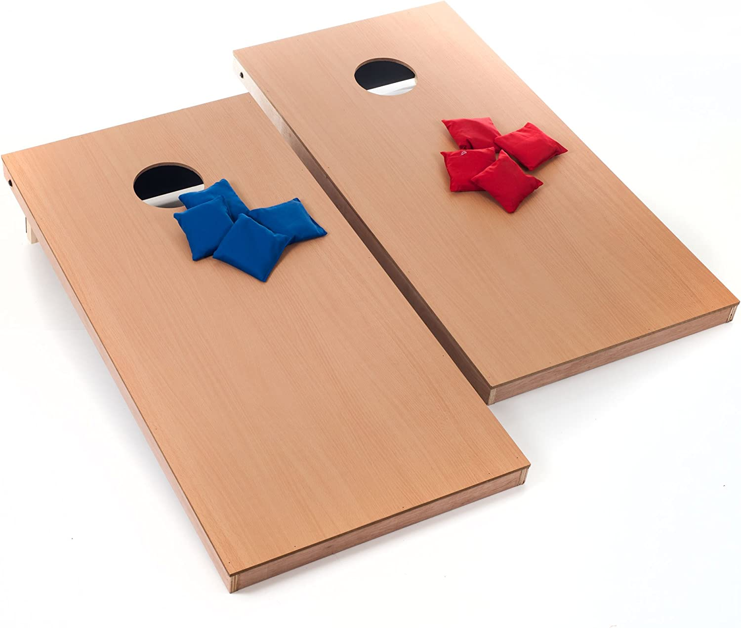 Outdoor Cornhole Lawn Game Set-Family Friendly, Fun for Kids and Perfect for Your Next Tailgate- Official Size Boards and Bags by Hey! Play!
