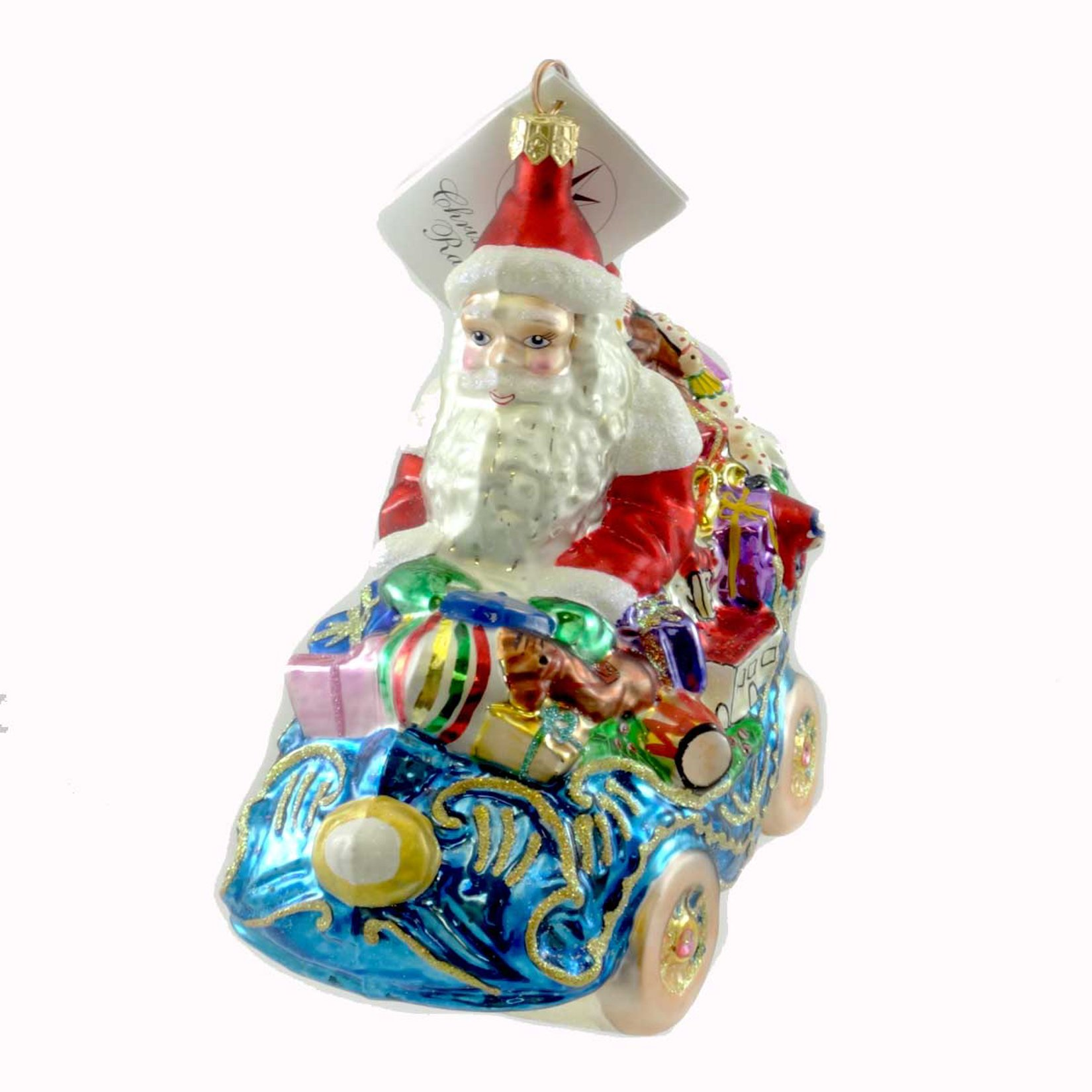 Christopher Radko ROYAL ROADSTER Glass Ornament Christmas