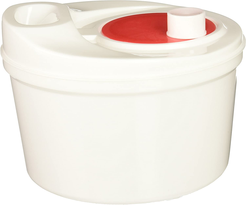Norpro Self Draining Salad Spinner, 1 EA, White