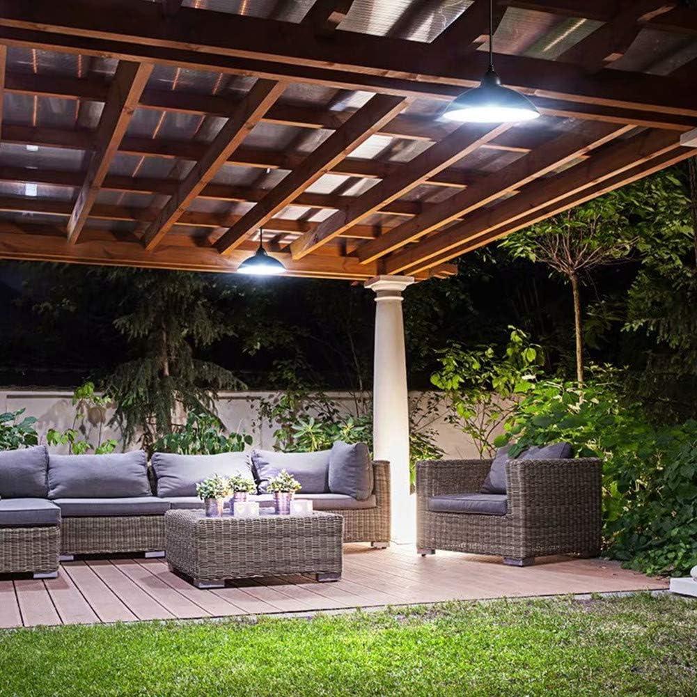 H-deng Luz Solar Colgante Al Aire Libre, Cable 3M Lámparas De Araña con Mando A Distancia, Caja Fuerte 12LED Impermeable A Prueba De Agua Iluminación Colgante para Patio De Jardín Al Aire