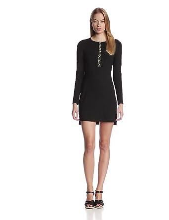 Only Hearts Women's So Fine Henley Mini Dress, Black, X-Small
