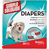 Simple Solution Disposable Dog Diapers, Small, 30 CT