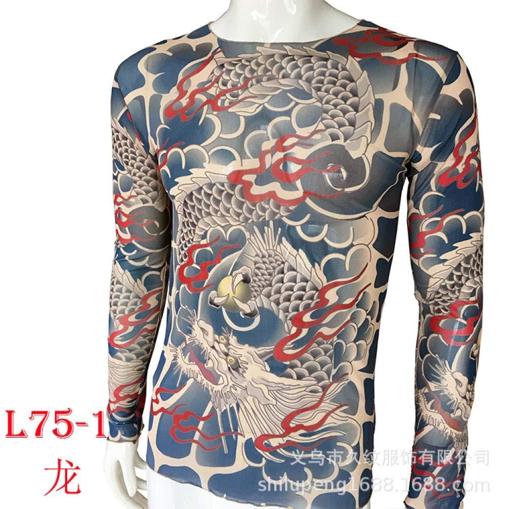 Tattoo Clothes New Tattoo Clothes Long Sleeve Tattoo Ocean Code, L75-1j,170CM -182CM 60KG -110KG