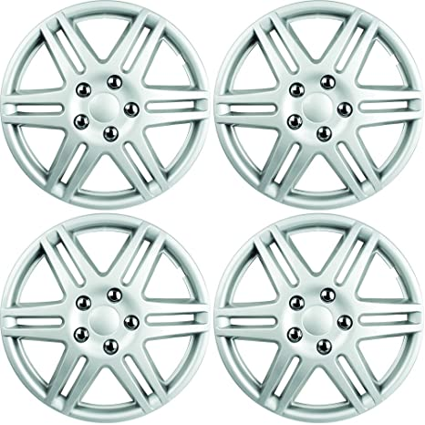 Custom Accessories 96907 (ABS araña fundas para ruedas de pintado, Plata, 4 piezas