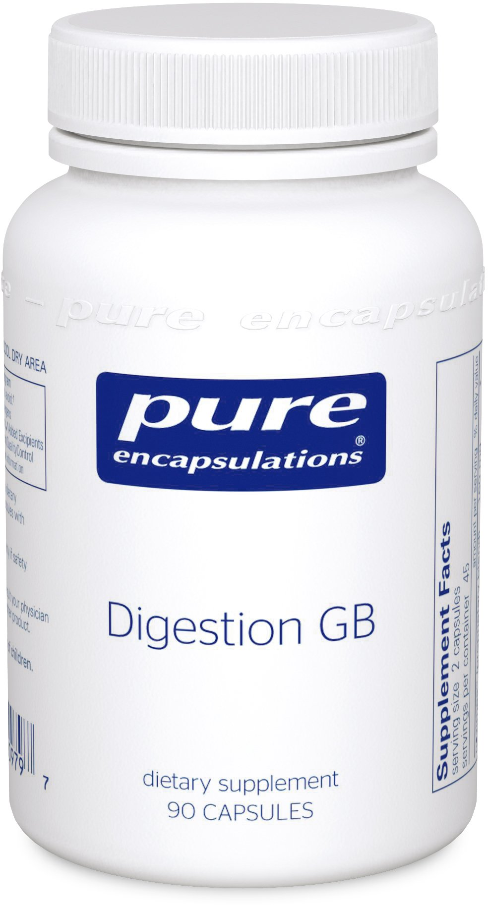 Pure Encapsulations - Digestion GB - Digestive Enzyme Formula with Extra Support for Gall Bladder Function and Fat Digestion* - 90 Capsules by Pure Encapsulations