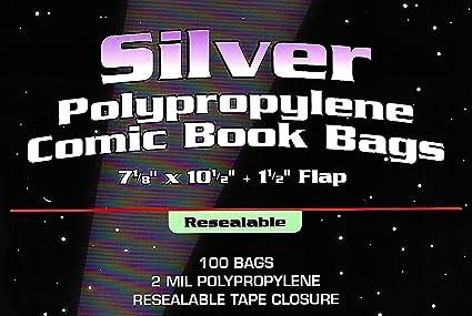 100) plata edad resellable claro bolsas de cómic y plato de ...