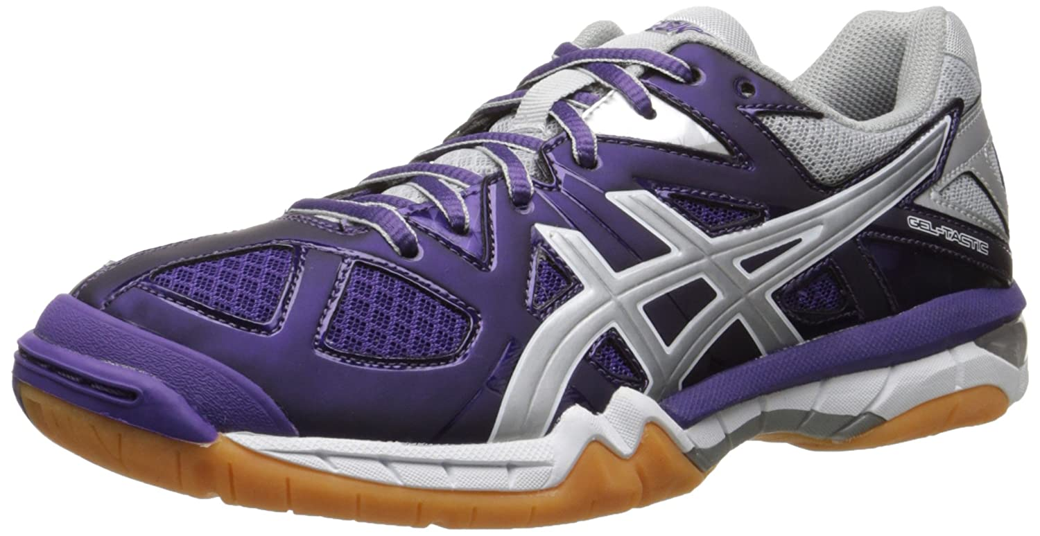 ASICS Women's Gel Tactic Volleyball Shoe B00Q2JM7WW 6.5 B(M) US|Purple/Silver/White