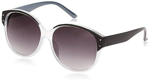 Sunoptic - Occhiali da sole, Donna, nero (Black (Black/Clear Grey)), Taglia unica