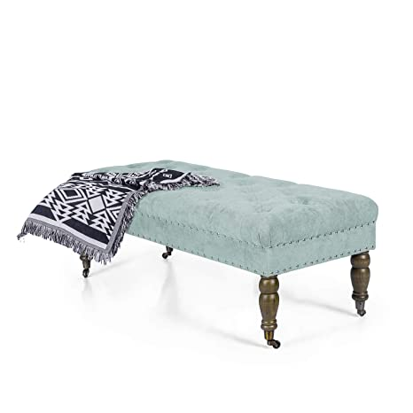 Admirable Amazon Com Adeco Rectangular Ottoman Bench With Caster Gmtry Best Dining Table And Chair Ideas Images Gmtryco