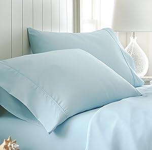 ienjoy Home Collection Premium Ultra Soft Pillowcase Set, Standard, Aqua