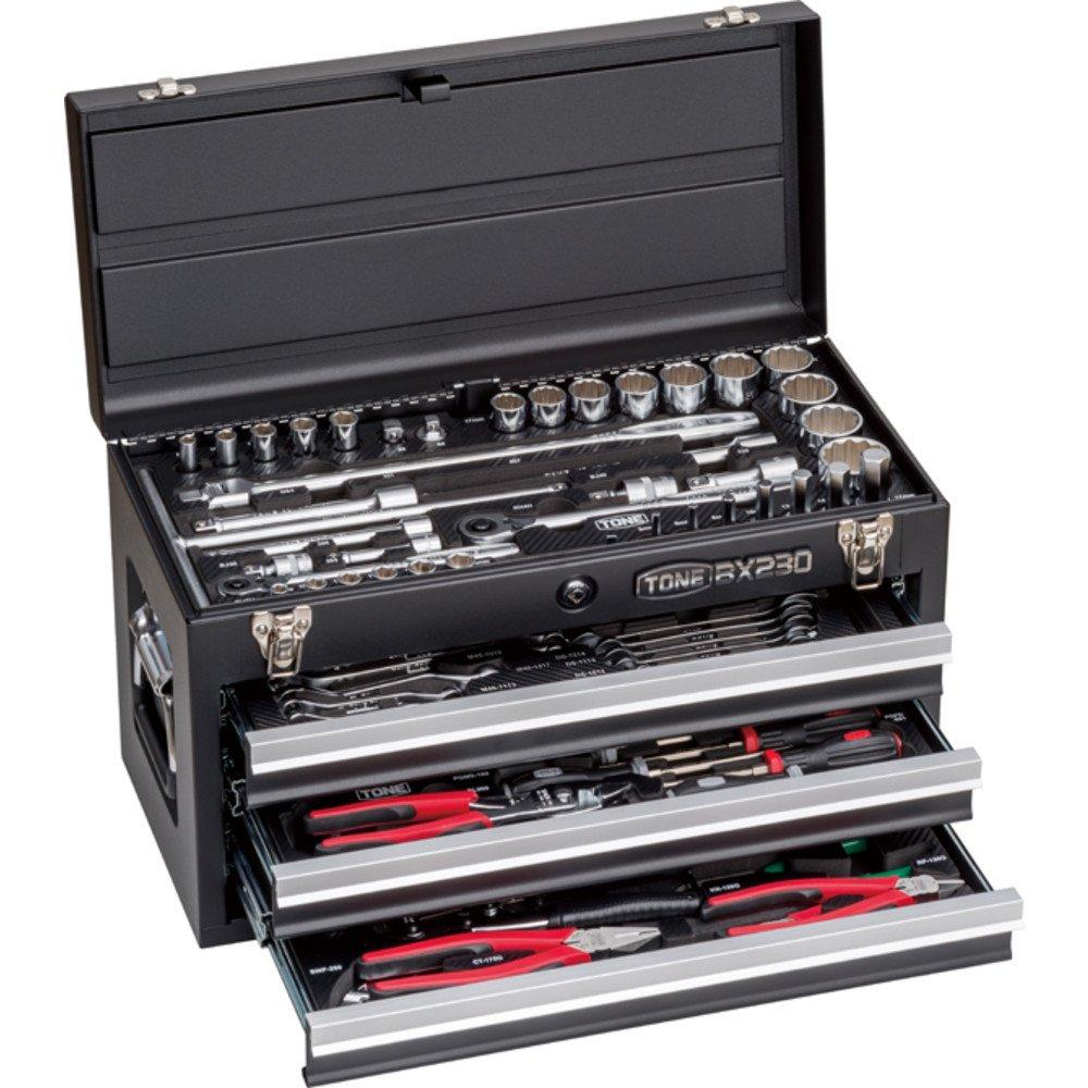 トネ(TONE) ツールセット TSXT950BK 差込角9.5&12.7mm ブラック 内容87点 B01N0M6NTC ブラック