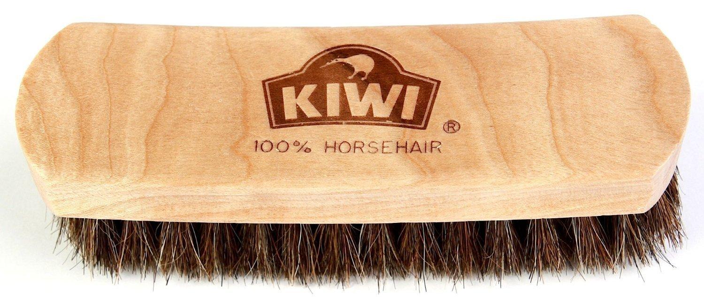 Kiwi Leather Shine Horsehair Brush, 2-Pack