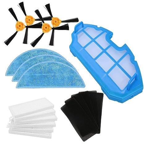 Louu Aspirador de vacío Robótico piezas cepillo Lateral filtro HEPA esponja fregona de paño para la