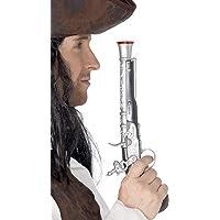 Smiffys 5296 Déguisement Adulte Pistolet de Pirate, Argenté, Taille Unique