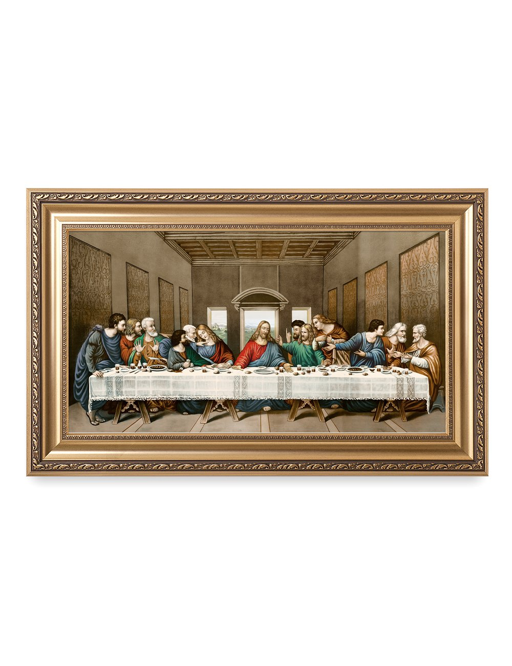 DECORARTS The Last Supper, Leonardo Da Vinci Classic Reproductions, Giclee Print and Museum Quality Framed Art for Wall Décor, 30'' L