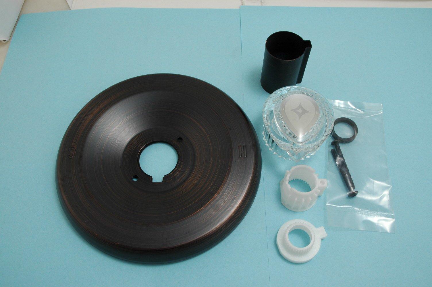 Trim Kit Fits Moen ''Posi-Temp'' Series 2300 Tub & Shower Faucet, Oil Rubbed Bronzed Finish - By Plumb USA 32347BOB