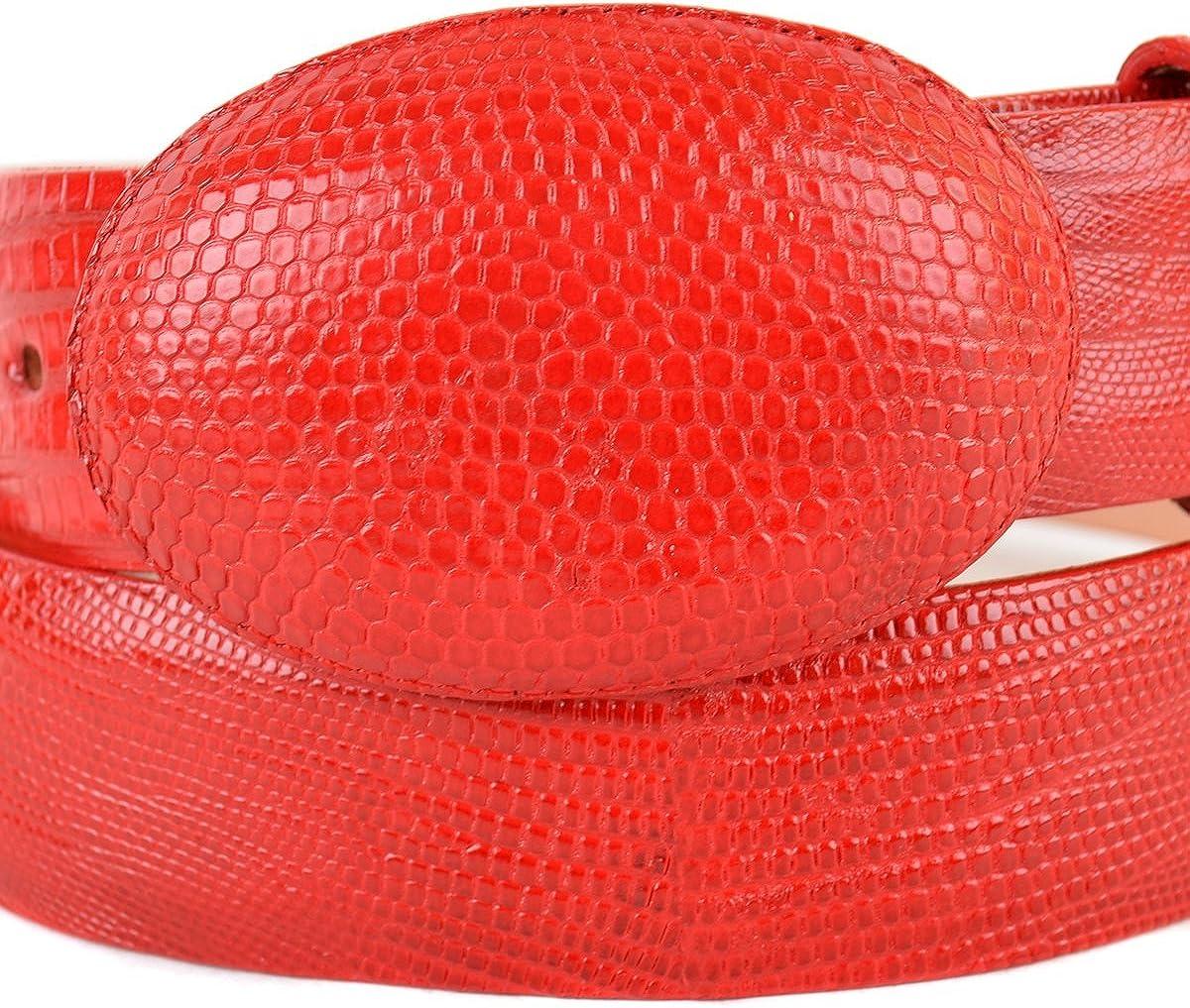 Original Red Lizard Teju Skin Western Style Belt