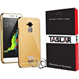 Taslar Luxury Mirror Metal Bumper Back Cover Case For Coolpad Note 3 / Coolpad Note 3 Plus (Gold)