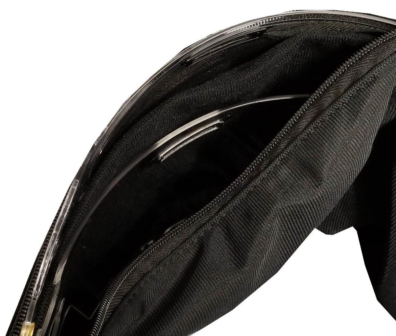 Deluxe Motorsport Helmet Face Shield Bag - Durable Material Motorcycle Helmet Visor Bag - Heavy Duty Zippered Motorbike Visor Protective Faceshield Pouch