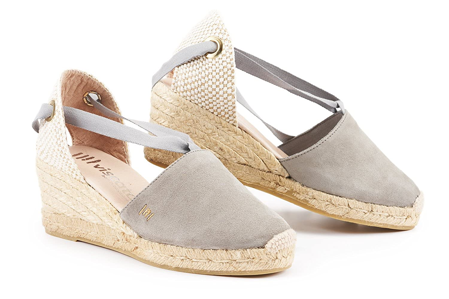 Viscata Fosca Suede 25 Wedge Soft Ankle Tie Closed Inside Heels Karen Khaky 37 Toe Classic Espadrilles Heel Made In Spain Shoes