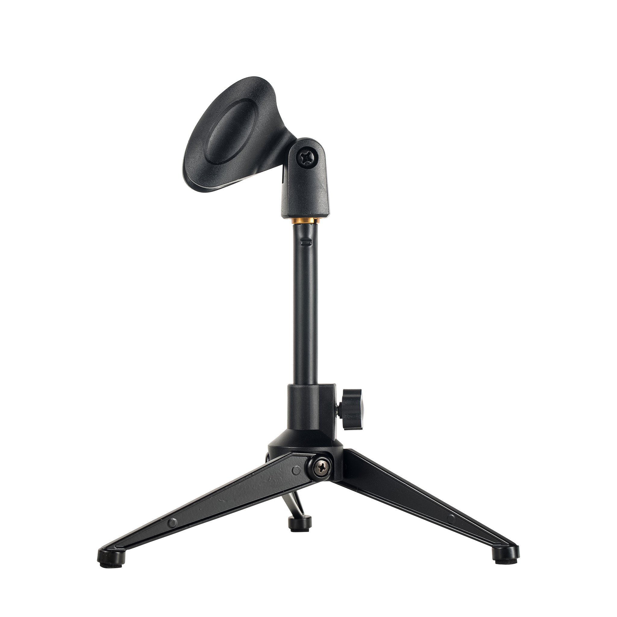 2-Pack Universal Desktop Microphone Stand Portable Adjustable Foldable Desk MIC Stand with Microphone Clip by Bearstar