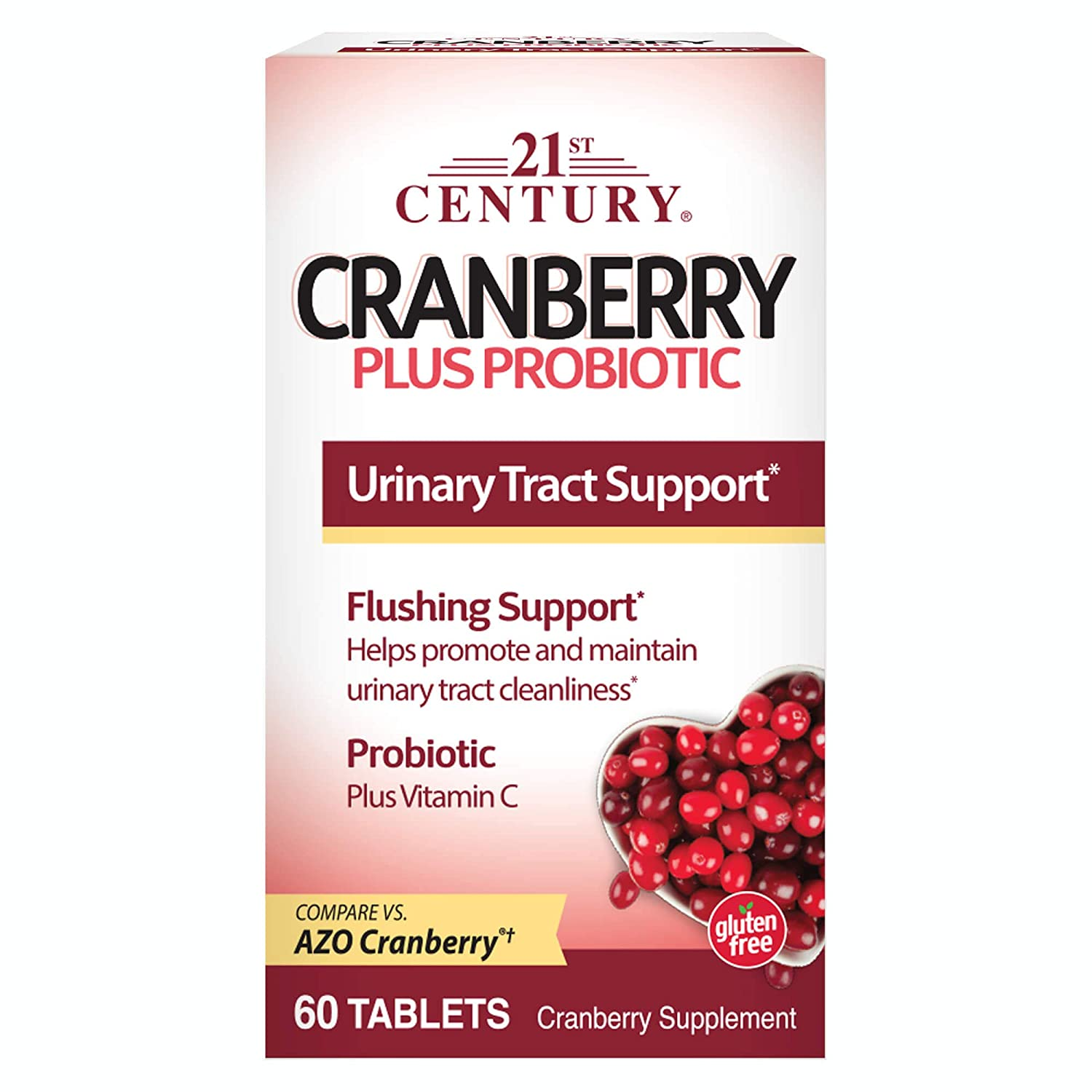 21st Century Cranberry Plus Probiotic Tablets, 60 Count: Amazon.es ...