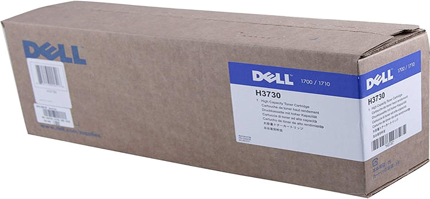 Dell H3730 1700 1710 Toner Cartridge (Black) in Retail Packaging