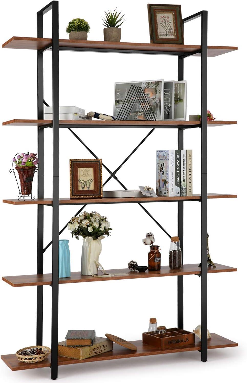 Himimi Bücherregal Standregal Eckregal im Industrie-Design 8 fächer Regal  für Büro, Wohnzimmer, Schlafzimmer 8 x 8 x 8cm