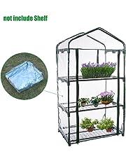 Somedays Cubierta de invernadero de PVC para jardín con mini pisos de jardín con cubierta reforzada