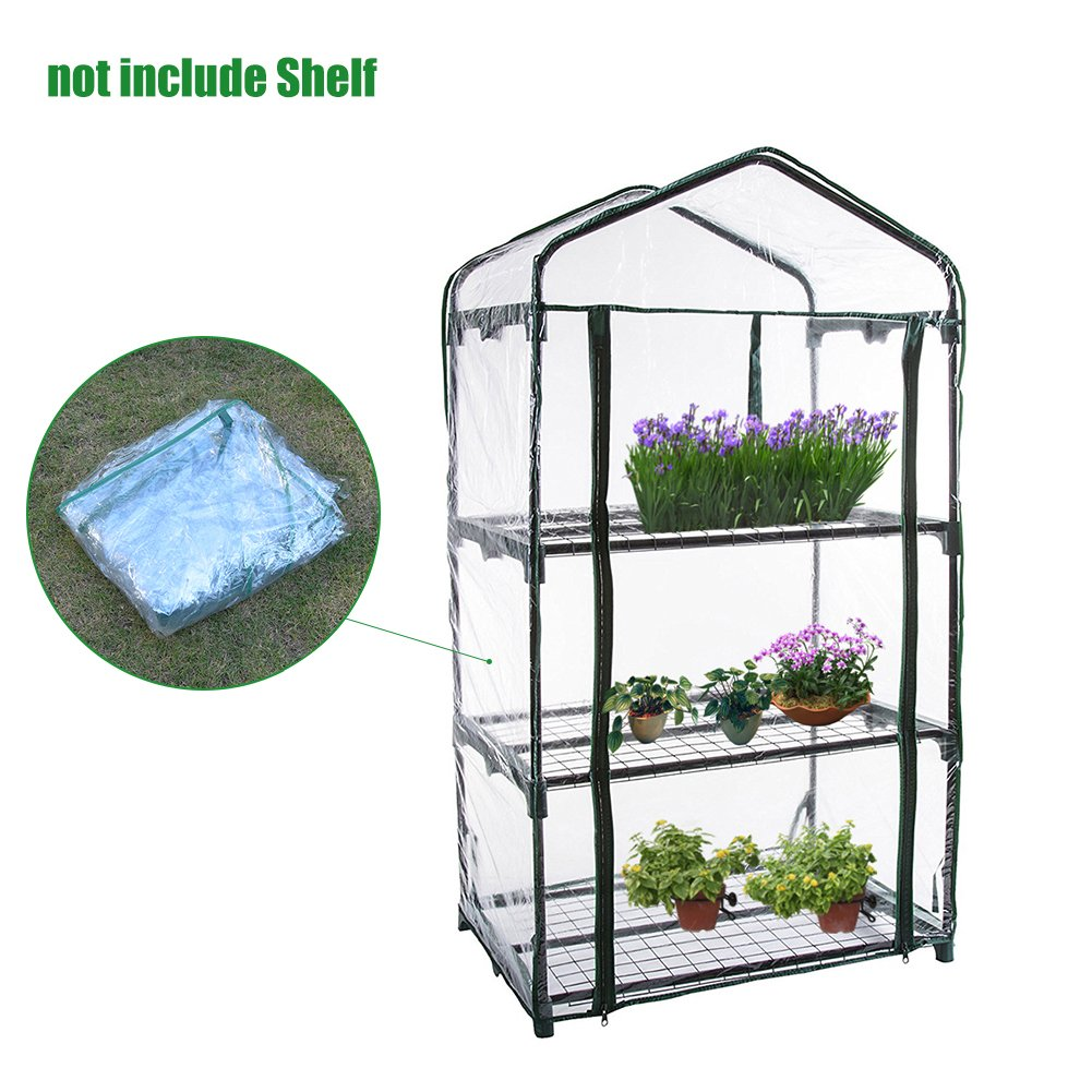 Bloomma Greenhouse Cover, Tier Mini Plant Greenhouses PVC Plants Warmhouse Garden for Grow Seeds,Seedlings,Potted Plants Flowers(Cover only,no iron stand)