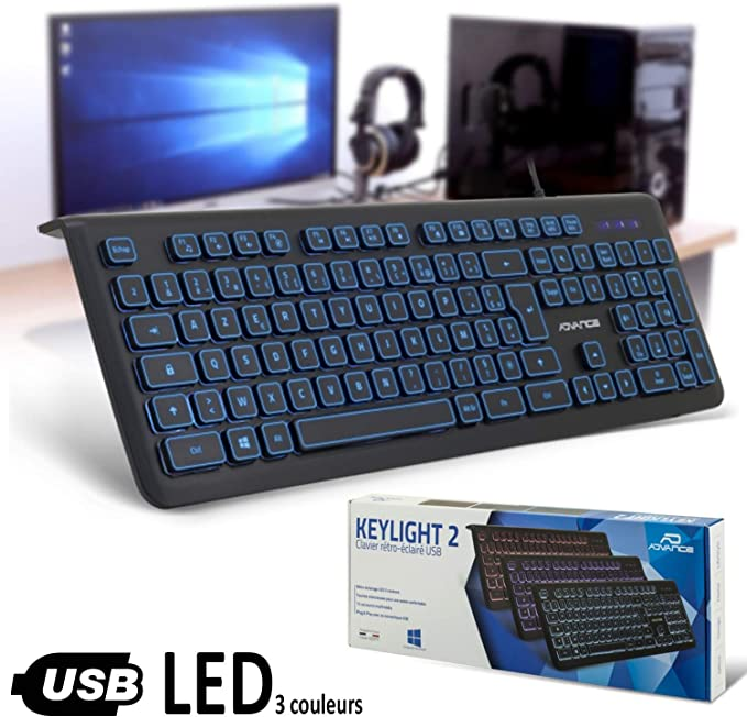 Advance CLA EL605 Clavier Luminescent Led USB ( 105