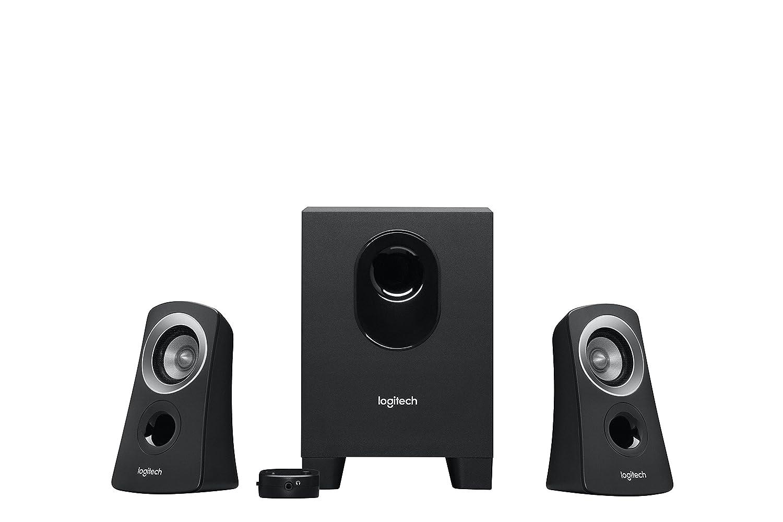 schwarz 2.1 Logitech Z313 PC Lautsprechersystem